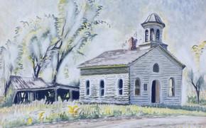 Картинка 1952, Charles Ephraim Burchfield, Church North of East Otto