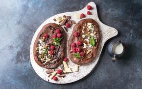 Картинка пицца, десерт, шоколадная, Natasha Breen