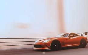 Картинка Авто, Машина, Dodge, Viper, Dodge Viper, Рендеринг, Спорткар, ACR, Dodge Viper ACR, Transport & Vehicles, …