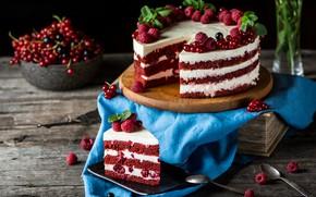Картинка украшения, ягоды, торт, композиция