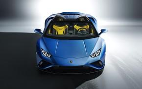 Картинка Lamborghini, вид спереди, Spyder, Huracan, 2020, RWD, Huracan EVO
