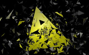 Картинка осколки, геометрия, треугольник