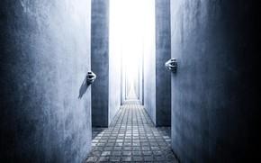 Картинка стены, руки, коридор