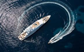 Картинка море, Франция, яхта, вид сверху, Канны, superyacht