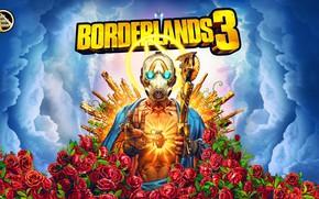 Картинка Guns, Borderlands, Vault, Psycho, Roses are Red, Borderlands 3, Mayhem is Coming, BL3, Vault Symbol