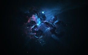 Картинка Звезды, Космос, Туманность, Стиль, Fantasy, Арт, Stars, Space, Art, Фантастика, Nebula, StarkitecktDesigns, by StarkitecktDesigns, Atlantis …