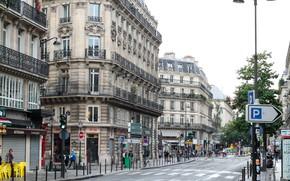 Картинка Париж, Дома, Дорога, Город, Улица