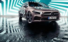 Картинка транспорт, автомобиль, Mercedes Benz, зигзаг, A-Class Sedan