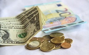 Картинка деньги, евро, доллары