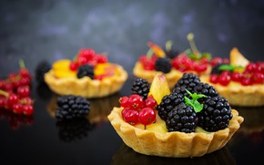 Картинка ягоды, тарталетки, пиожное
