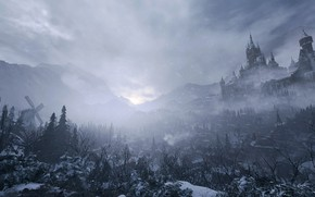 Картинка зима, снег, пейзаж, ветер, Обитель Зла, Resident Evil 8: Village
