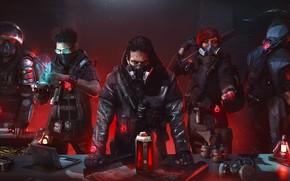 Картинка люди, банда, противогазы, Tom Clancy's The Division 2