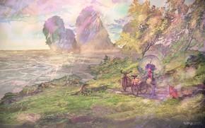 Картинка пейзаж, природа, девочка