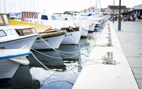 Картинка Street, Wallpaper, Port, Sea, Boats, Pier, Ships