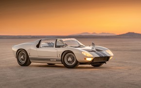 Картинка Roadster, Ford, Prototype, вечер, Ford GT, 1965, GT40