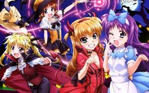 Картинка девочки, улыбки, костюмы, хеллоуин