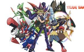 Картинка Покемон, Pokemon, кроссовер, Покемоны, Yu Gi Oh!
