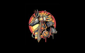 Картинка Art, Egypt, Vector, Legend, Background, Illustration, Minimalism, Anubis, Angga Tantama, Myht