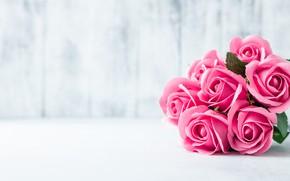 Картинка розы, букет, розовые, rose, pink, flowers