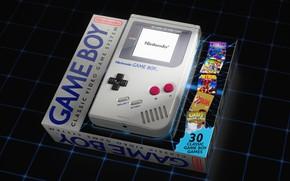 Картинка Игра, Ретро, Classic, Art, Nintendo, Рендеринг, Винтаж, by Oliver Harries, Oliver Harries, Game Boy Classic, …