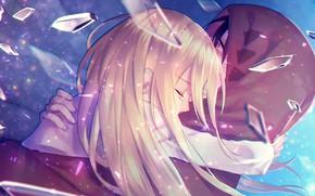 Картинка девушка, парень, обнимашки, Ангел кровопролития, Satsuriku no Tenshi