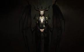 Картинка Череп, Fantasy, Рога, Blizzard, Art, Фантастика, Diablo, Game, Диабло, Blizzard Entertainment, Lilith, Лилит, Персонаж, Succubus, …