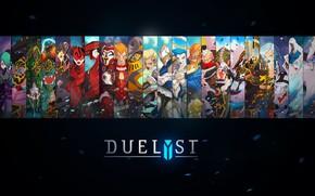 Картинка fantasy, game, digital art, artwork, concept art, characters, simple background, Duelyst