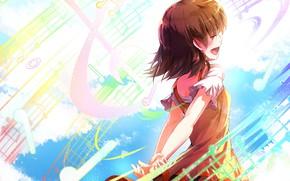 Картинка девочка, песня, мелодии