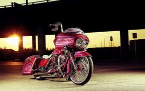 Картинка Harley-Davidson, Custom, Motorcycle, Bagger