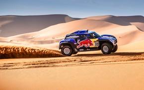 Картинка Песок, Авто, Mini, Спорт, Пустыня, Машина, Скорость, 300, Rally, Dakar, Дакар, Ралли, Дюна, Buggy, Багги, ...