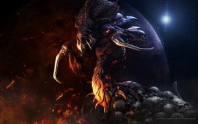 Картинка победа, монстр, пасть, starcraft, zerg, зерги, стратегия, remastered