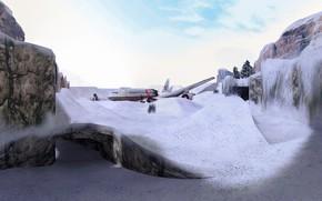 Картинка снег, snow, Counter Strike, Full HD, Контр Страйк, CS 1.6, de_survivor
