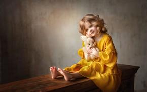 Картинка игрушка, платье, девочка, зайчик