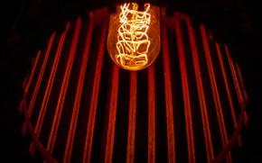 Картинка свет, ретро, лампа, интерьер, освещение, светильник, лофт, loft, эдисон, ламели, лампа эдисона