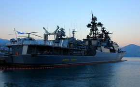 Картинка корабль, причал, большой, противолодочный, проект 1155, Адмирал Левченко