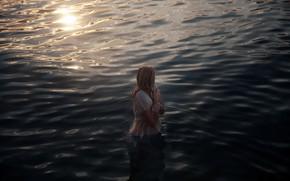 Картинка девушка, в воде, холодно, Lichon, Shivering