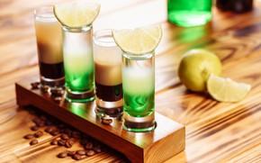 Картинка кофе, алкоголь, коктейль, лайм, стаканы