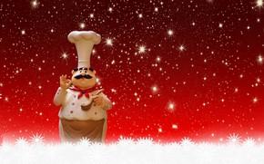 Картинка новый год, рождество, праздники, приветствие, варка, шеф-повар