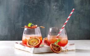 Картинка лед, стаканы, цитрус, напиток, апельсиновый, Natasha Breen