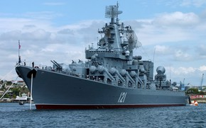 Картинка москва, крейсер, ракетный, черноморский флот, гвардейский, первого ранга, проект 1164