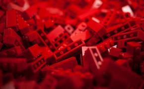 Картинка Red, Lego, Macro, Toys