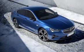Картинка авто, свет, синий, Opel, Insignia Grand