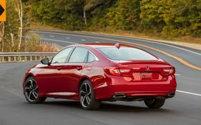 Картинка красный, Honda, Accord, седан, кузов, 2018, четырёхдверный, 2.0T Sport