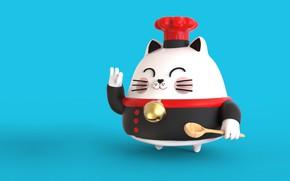Картинка арт, ложка, повар, шеф, Sensei Cat, Pablo Susskind