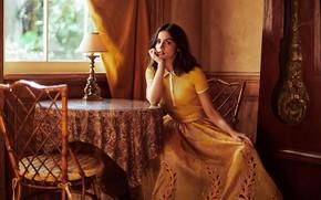 Картинка взгляд, девушка, поза, комната, актриса, окно, Ana De Armas