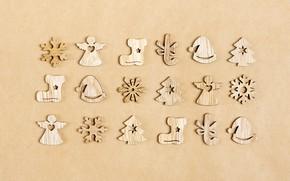 Картинка дерево, новый год, фигурки, Sosiukin