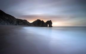 Картинка море, берег, утро