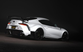 Картинка Авто, Белый, Машина, Toyota, Car, Supra, Спорткар, Transport & Vehicles, FLAT HAT 3D Studio, by …