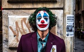 Картинка джокер, клоун, мужчина, персонаж, шут