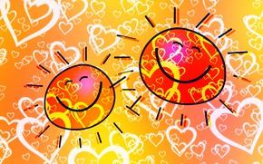 Картинка солнце, любовь, радость, сердеччи